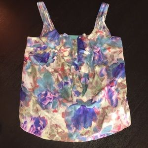 Anthropologie Postage Stamp Watercolor Tank - 2